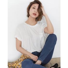 リエディ Re: EDIT ポケット付きTシャツ (ホワイト)