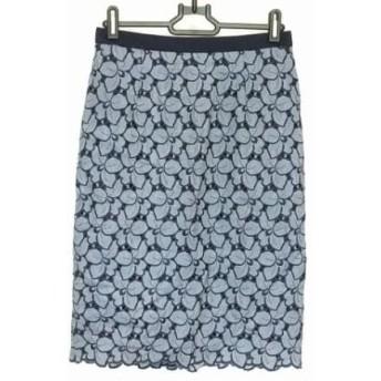 【中古】 ジャスグリッティー JUSGLITTY スカート サイズ1 S レディース ブルー ネイビー 刺繍