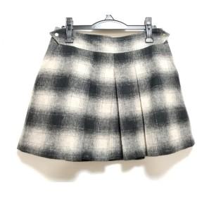 【中古】 テッドベイカー TED BAKER ミニスカート サイズ3 L レディース 黒 ベージュ