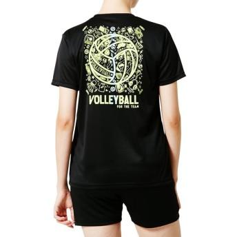 バレーボール 半袖Tシャツ WSシヨートスリーブトツプ ASICS (アシックス) 2052A040.001 Pブラツク_B