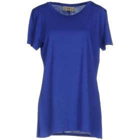 《期間限定 セール開催中》GROCERIES レディース T シャツ ブルー XS 指定外繊維(ヘンプ) 60% / オーガニックコットン 40%