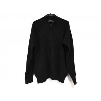 【中古】 ポールスミス PaulSmith 長袖セーター サイズXL メンズ 黒 ジップアップ