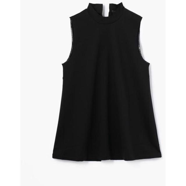 トゥモローランド Edition コットン モックネックノースリーブTシャツ レディース 19ブラック F 【TOMORROWLAND】