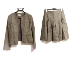 【中古】 セオリーリュクス スカートスーツ サイズ40 M レディース - - アイボリー ダークブラウン 春/秋