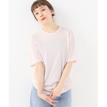journal standard luxe 【ATON/エイトン】 FRESCA CREW NECK T-SHIRT ピンク B 2