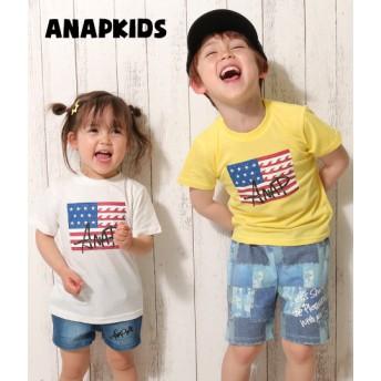 【セール開催中】ANAP KIDS(キッズ)USAフラッグプリントTEE