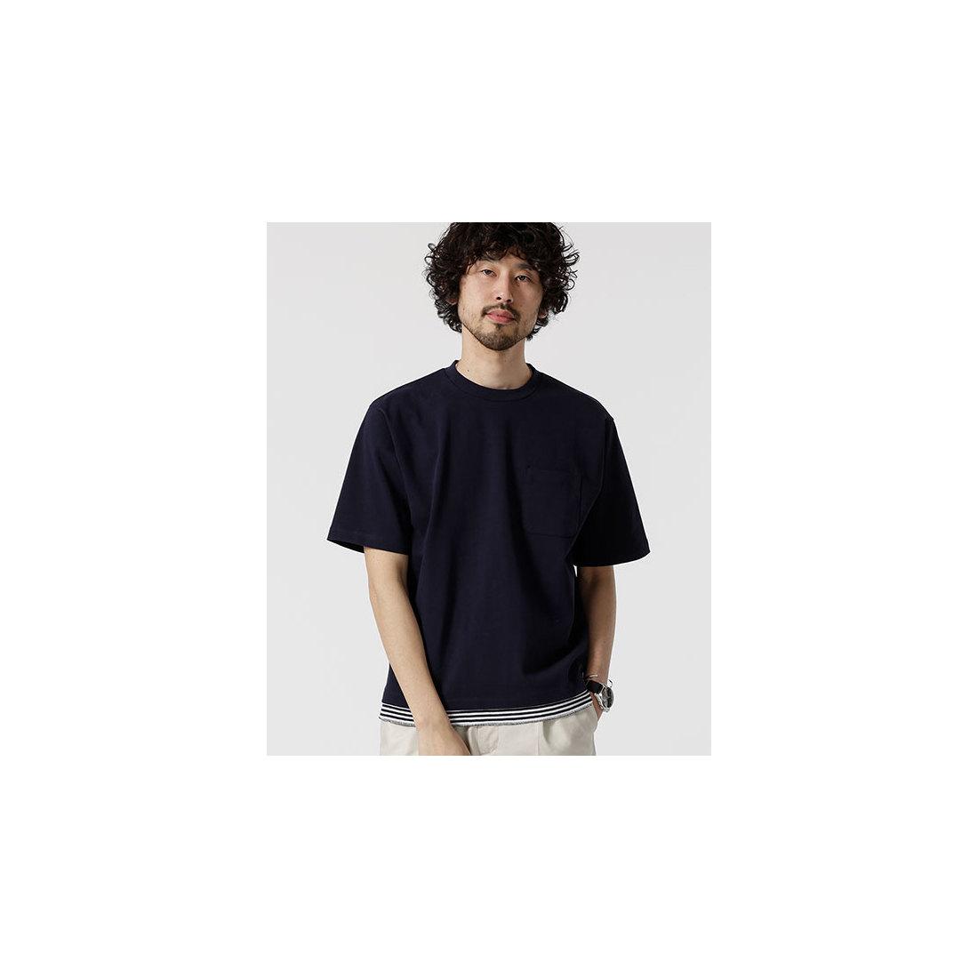 【19SS】 (nano universe) フェイクレイヤードBIG Tシャツ/ (メンズ) ナノ・ユニバース