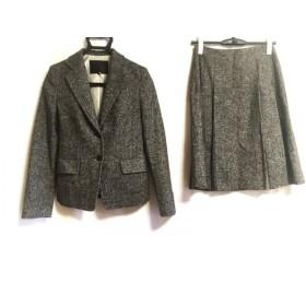 【中古】 アンタイトル UNTITLED スカートスーツ サイズ1 S レディース 美品 黒 アイボリー