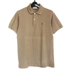 【中古】 ラコステ Lacoste 半袖ポロシャツ レディース 美品 ライトブラウン