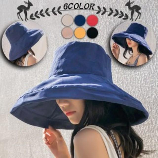 レディース帽子 女優帽 春夏 おしゃれ 折りたたみ 紫外線対策 小顔 中折れハット 日よけ帽子 あご紐 つば広