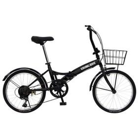 20型 折りたたみ 自転車 VIKING BIKE FDB206 TOUGH(ブラック/6段変速) 81205-01