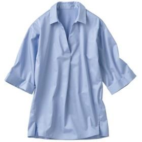 30%OFF【レディース】 ワイドスリーブスキッパーシャツ(綿100%) ■カラー:サックスブルー ■サイズ:L,M