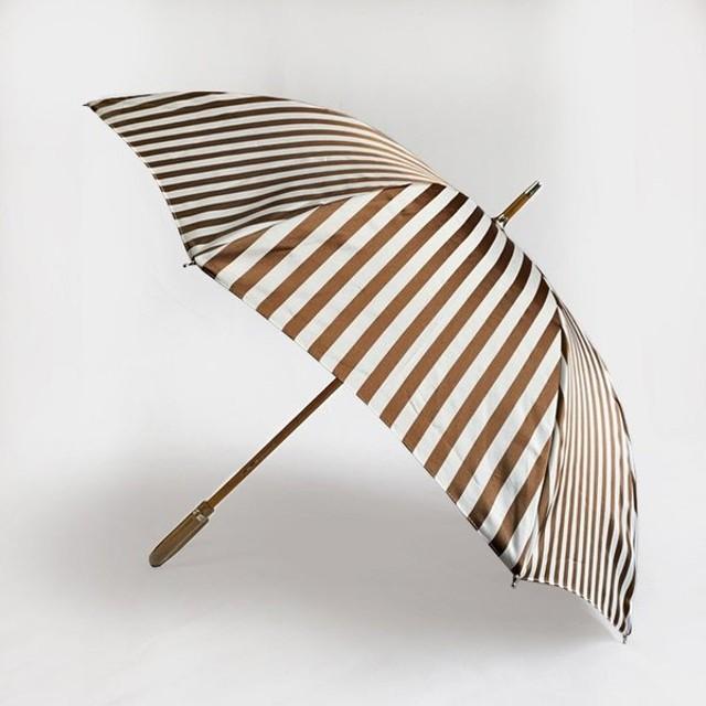 Pradelle - プラデル - 晴雨兼用傘 - ストライプ長傘 Off White/Brown