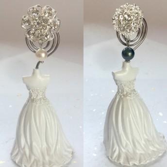 本真珠の帯留め 白 黒 セット 揺れる パール プレゼント ギフト SALE 送料無料 きらめく