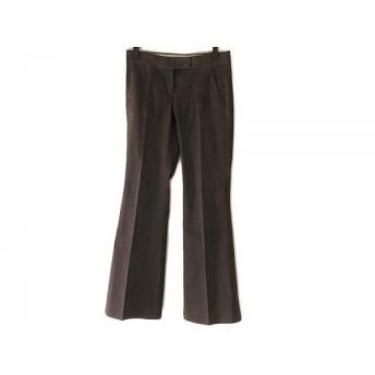 【中古】 セオリー theory パンツ サイズ0 XS レディース ダークブラウン