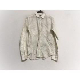 【中古】 トルネードマート TORNADO MART 長袖シャツ サイズM メンズ 美品 アイボリー 白 薔薇