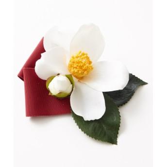 ふりふ ヘアクリップ「江戸蕾椿クリップ」 レディース ホワイト F 【FURIFU】
