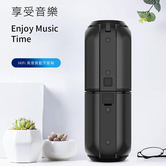 WiWU   Gemini藍牙音響,SPK301,立體聲藍牙喇叭,磁吸底座,長效電池音樂帶出門,高音質,10W音響,音箱,喇叭,外出可當行動電源