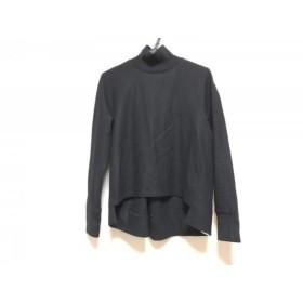 【中古】 チノ CINOH 長袖カットソー サイズ38 M レディース 美品 黒 ハイネック