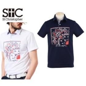 【30%OFFセール】ポロシャツ メンズ セントクリストファー St.Christopher   ゴルフウェア