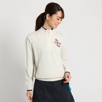 アダバット adabat 【蓄熱】 バックデザインセーター レディース (ホワイト)