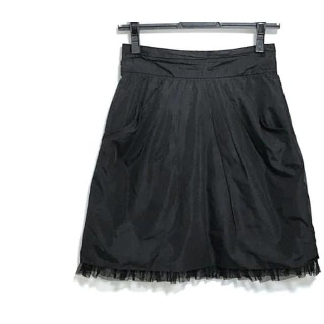 【中古】 アプワイザーリッシェ Apuweiser-riche ミニスカート サイズ1 S レディース 黒 レース