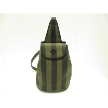 【中古】 フェンディ FENDI ワンショルダーバッグ ペカン - ベージュ 黒 PVC(塩化ビニール) レザー