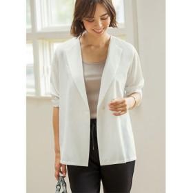 【スタイルデリ/STYLE DELI】 サラサラ涼感ホワイトジャケット