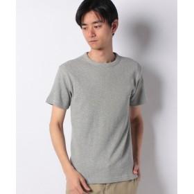 エドウィン EDWIN ワッフル クルーネック Tシャツ 半袖 メンズ 杢グレー S 【EDWIN】