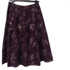 【中古】 シビラ Sybilla ロングスカート サイズM レディース ボルドー 花柄