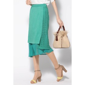 VICKY リネンライク異素材スカート その他 スカート,グリーン