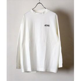 417 EDIFICE 【PULP】ATIVE / エイティブ LOGO MOCK LS TEE ホワイト フリー