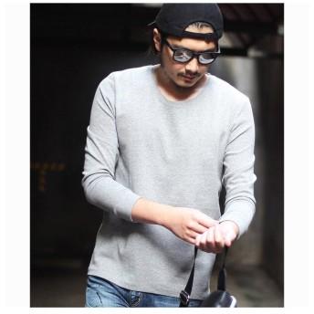 メンズビギ <リブ仕様>スパンフライスロングスリーブTシャツ メンズ グレー M 【Men's Bigi】