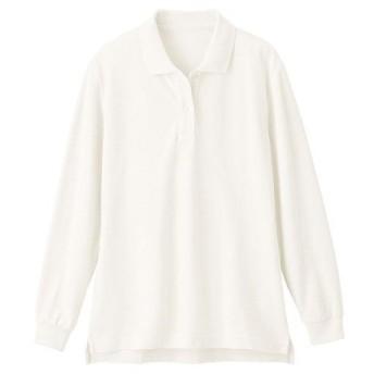 【レディース】 UVカットポロシャツ(長袖)(S-5L) - セシール ■カラー:ホワイト ■サイズ:3L,L,4L-5L,LL,M,S,4L-5L