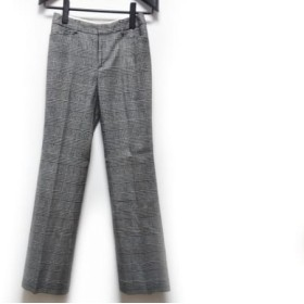 【中古】 ニジュウサンク 23区 パンツ サイズ32 XS レディース 黒 白 千鳥格子