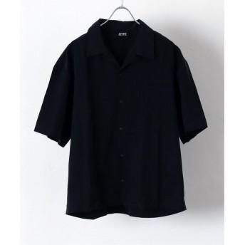 417 EDIFICE 【PULP】ATIVE / エイティブ OPEN COLLAR SHIRTS ブラック 1