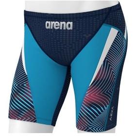 アリーナ(arena) メンズ フィットネス水着 AQUA EXA ロングボックス (アクアエクサカット) ネイビーN/ブルーG/Nホワイト/ネイビーレッド/ブルーG LAR-9302