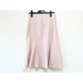 【中古】 エポカ EPOCA ロングスカート サイズ40 M レディース ピンク 白 ツイード