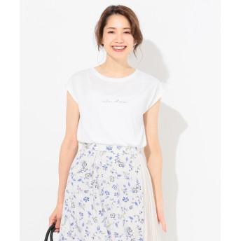 【オンワード】 any SiS L(エニィスィス 大きいサイズ) バックプリントロゴ Tシャツ ホワイト 3 レディース 【送料無料】