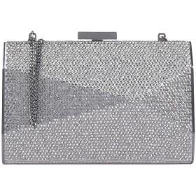 《期間限定セール開催中!》OLGA BERG レディース ハンドバッグ グレー 紡績繊維 / 金属 / ガラス