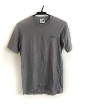 【中古】 ノースフェイス THE NORTH FACE 半袖Tシャツ サイズS メンズ グレー