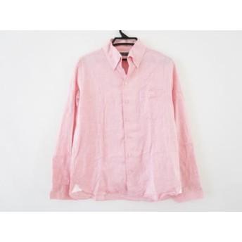 【中古】 ラウラフェリーチェ Laura Felice 長袖シャツ サイズ48 XL メンズ ピンク