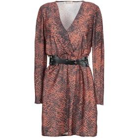 《セール開催中》DIXIE レディース ミニワンピース&ドレス 赤茶色 S ポリエステル 100%