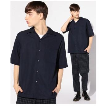 【50%OFF】 メンズビギ オープンカラーシャツ/開襟シャツ メンズ ネイビー M 【Men's Bigi】 【セール開催中】