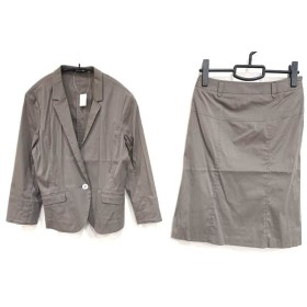 【中古】 コムサデモード COMME CA DU MODE スカートスーツ サイズ11 M レディース ダークブラウン