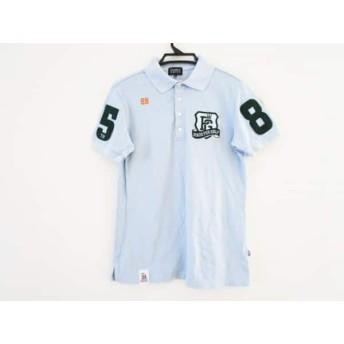 【中古】 パーリーゲイツ 半袖ポロシャツ サイズ5 XL メンズ ライトブルー グリーン マルチ