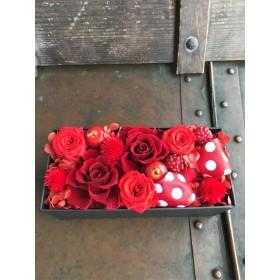 ボックスフラワー♪レッドローズ 響花