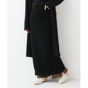 SLOBE IENA TAN LACY ロングスカート ブラック フリー