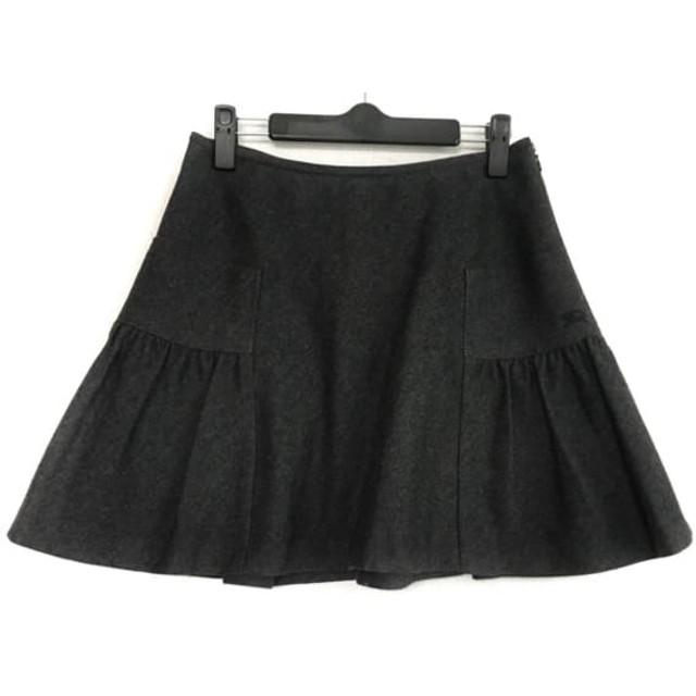 【中古】 バーバリーブルーレーベル ミニスカート サイズ38 M レディース ダークグレー