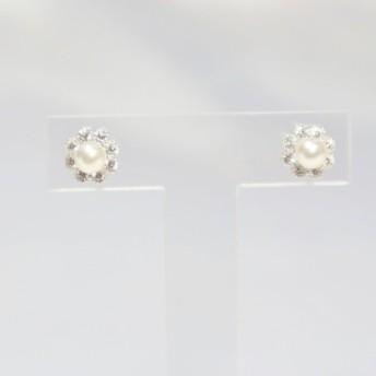 【再販】アコヤパールピアス(2)(4.5mm珠)